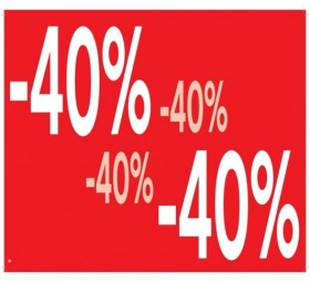 AFFICHE -40% 69x24 cm