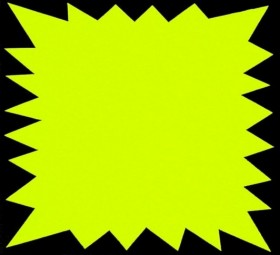 P.100 FLASH FLUO JAUNE 90x120MM 250g/m