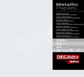 Pack 25 A4 PERLE métallisé 240g