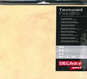 Pack 25 A4 DECAdry 95g MARBRE OR
