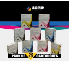 Pack de 20 cartouches compatible EPSON T0711/12/13/14 - Économisez 24,90€ ★