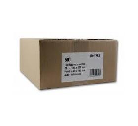 GPV Boîte 500 enveloppes auto-adhésives 80g Format DL 110x220mm fenêtre 45x100
